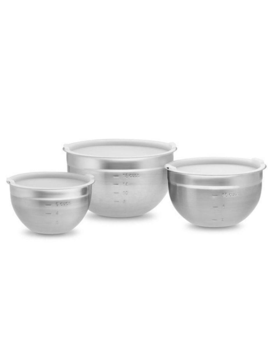 Set de Bowls para Mezclar con Tapa
