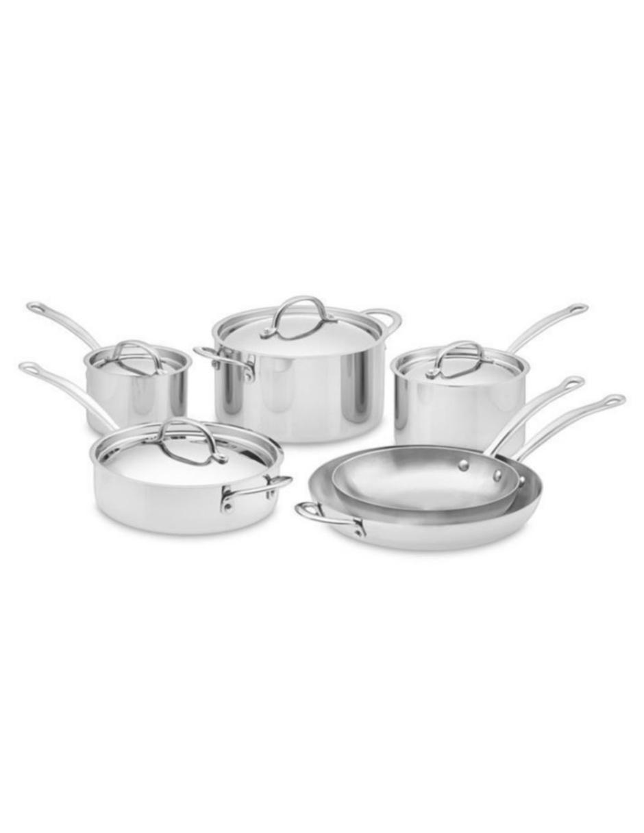 Batería de Cocina de acero inoxidable 10 piezas Williams Sonoma Open Kitchen